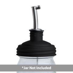 reCAP® Mason Jars Lid ADAPTA Pour Tap, Regular Mouth, Black - Case of 12
