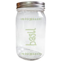 Sample - Mason Jar Herb Garden Engraved Jar
