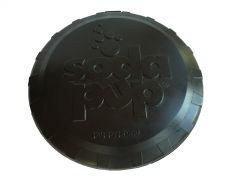 SP Magnum Bottle Top Flyer - Large, Black Dog Toy