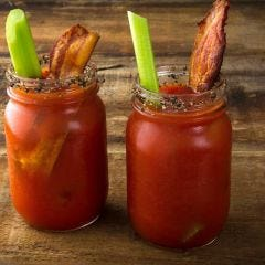 Wasabi Salted Black Pepper Bacon Bloody Marys