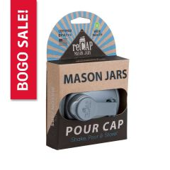 BOGO! reCAP® Mason Jar POUR Lids Wholesale - Packaged