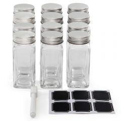 Square Glass Spice Jars - Case of 96