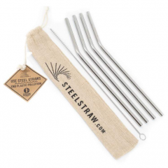 Steel Straw Gift Set - Case of 24