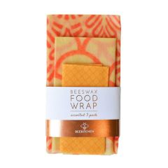 3 Pack Beeswax Wrap, Mixed Pattern - Case of 10