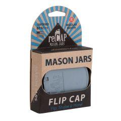 reCAP® Mason Jars FLIP Caps | Flip Top Lids Wholesale (Packaged)