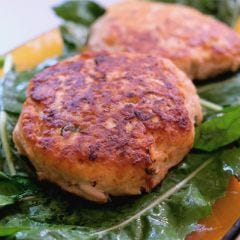 Savory Salmon Burgers