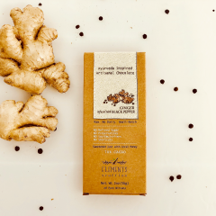 Ginger with Black Pepper Infusion Artisan Chocolate - Case of 10