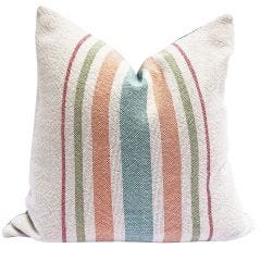 Multi Stripe Pillow - Brights