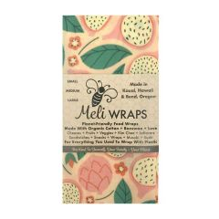 Meli Wraps Reusable and Eco-Friendly Beeswax Food Wraps - Case of 10