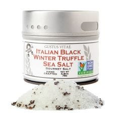 Italian Black Truffle Sea Salt - Case of 8