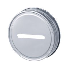 reCAP Mason Jars Metal Coin Bank lid - Regular Mouth, Case of 12