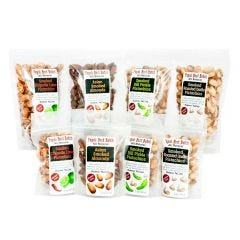 Mixed Bags of Smoked Almonds and Pistachios - Variety Case of 24