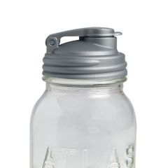Sample - reCAP® Mason Jars Lid POUR Cap, Regular Mouth, Silver