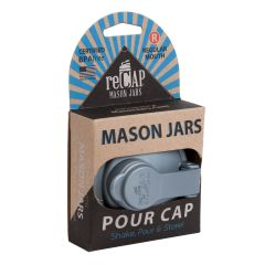 Sample - reCAP® Mason Jars Lid POUR Cap, Wide Mouth, Silver