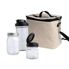 reCAP® Mason Jars Pack & Go Lunch Box Kit - Case of 4