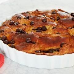 Brioche Bread Pudding with Dark Chocolate