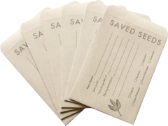 Seed Saving Envelopes - Case of 6