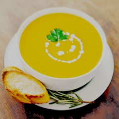 Hearty Cream of Pumpkin Soup with Turmeric
