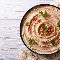 Spicy Garlic Moroccan Hummus