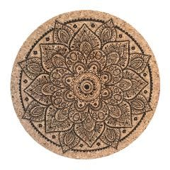 Mandala Cork Trivet, Pack of 6