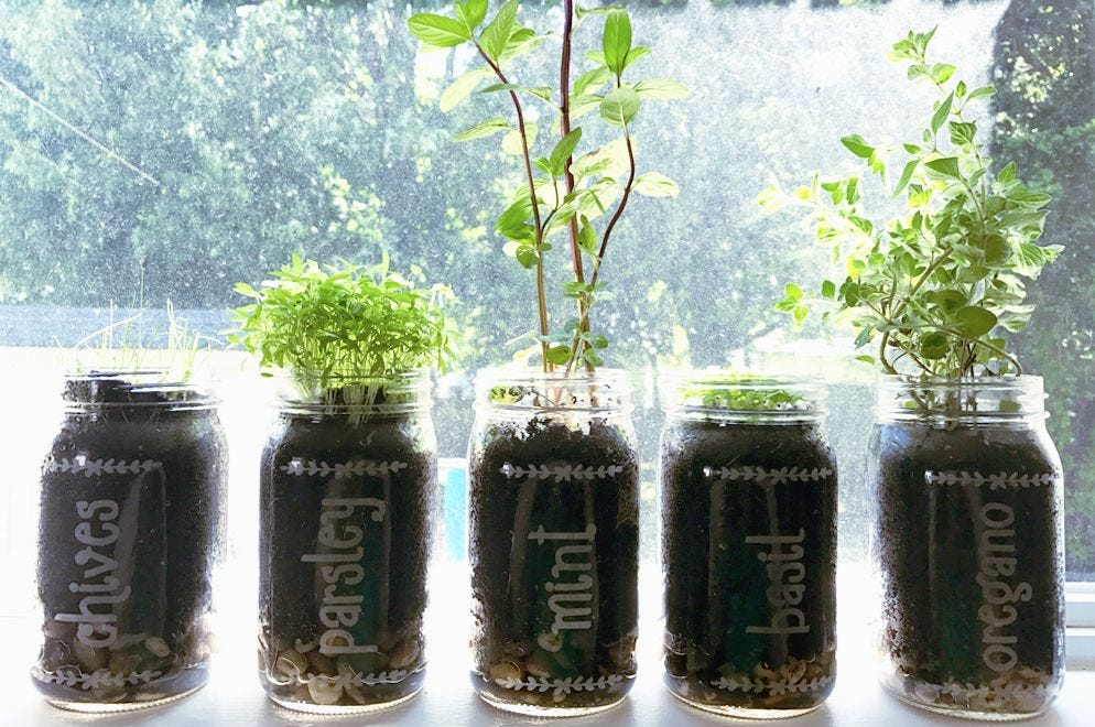 How To Make A Mason Jar Herb Garden how to.