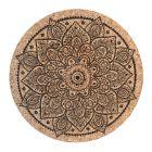 Mandala Cork Trivet, Pack of 6