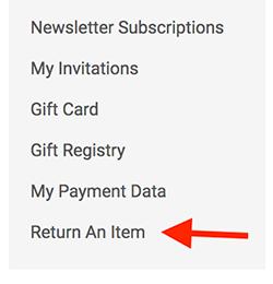 Return An Item