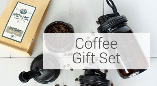 Mason jar Coffee Gift set